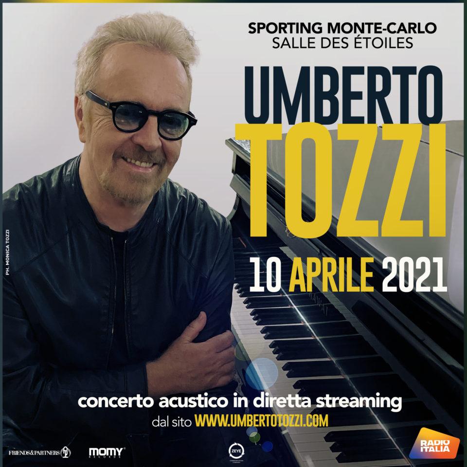 Stasera il concerto acustico di Umberto Tozzi in streaming